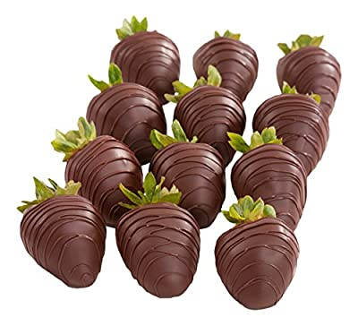 12 Dreamy Dark Chocolate Covered Strawberries
