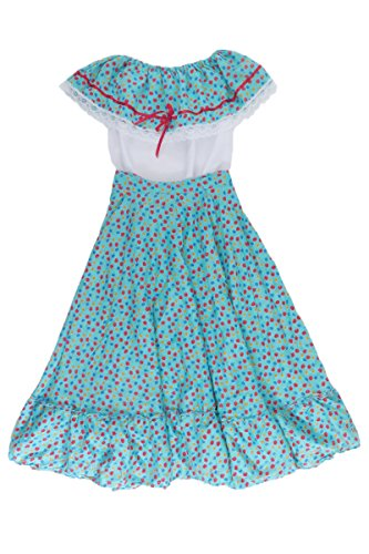 Mexican Clothing Co Womens Mexican Adelita Costume Blouse n Skirt Poplin one Size Aqua 5257