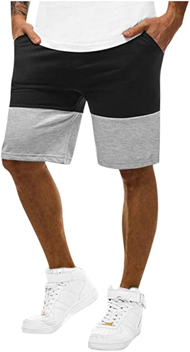FRPE Men Color Block Casual Cargo Shorts Big and Tall Military Short Trouser