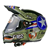 Woljay Dual Sport Off Road Motorcycle helmet Dirt Bike ATV D.O.T certified (S)