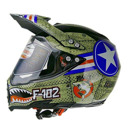 Woljay Dual Sport Off Road Motorcycle helmet Dirt Bike ATV D.O.T certified (S)