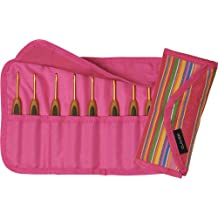 Clover Takumi Getaway Soft Touch Crochet Hooks Gift Set, 8 Sizes