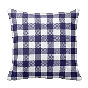 Amazon Com Decorative Home Sofa Navy Blue Preppy Buffalo