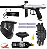 Tippmann Gryphon Paintball Marker Gun 3Skull 4+1 BC Mega Set - Silver