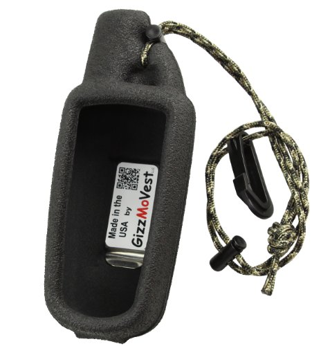 Garmin 60csx & 60 series CASE made by GizzMoVest LLC in 'Special Ops Black'. Molded Protection includes METAL Belt Clip, Lanyard-Clip. MADE IN THE USA.