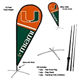 Miami Hurricanes Teardrop and Feather Flag Kit