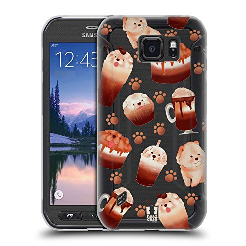 Head Case Designs Chow Chow Kawaii Puppies and Sweets Soft Gel Case for Samsung Galaxy S6 Active