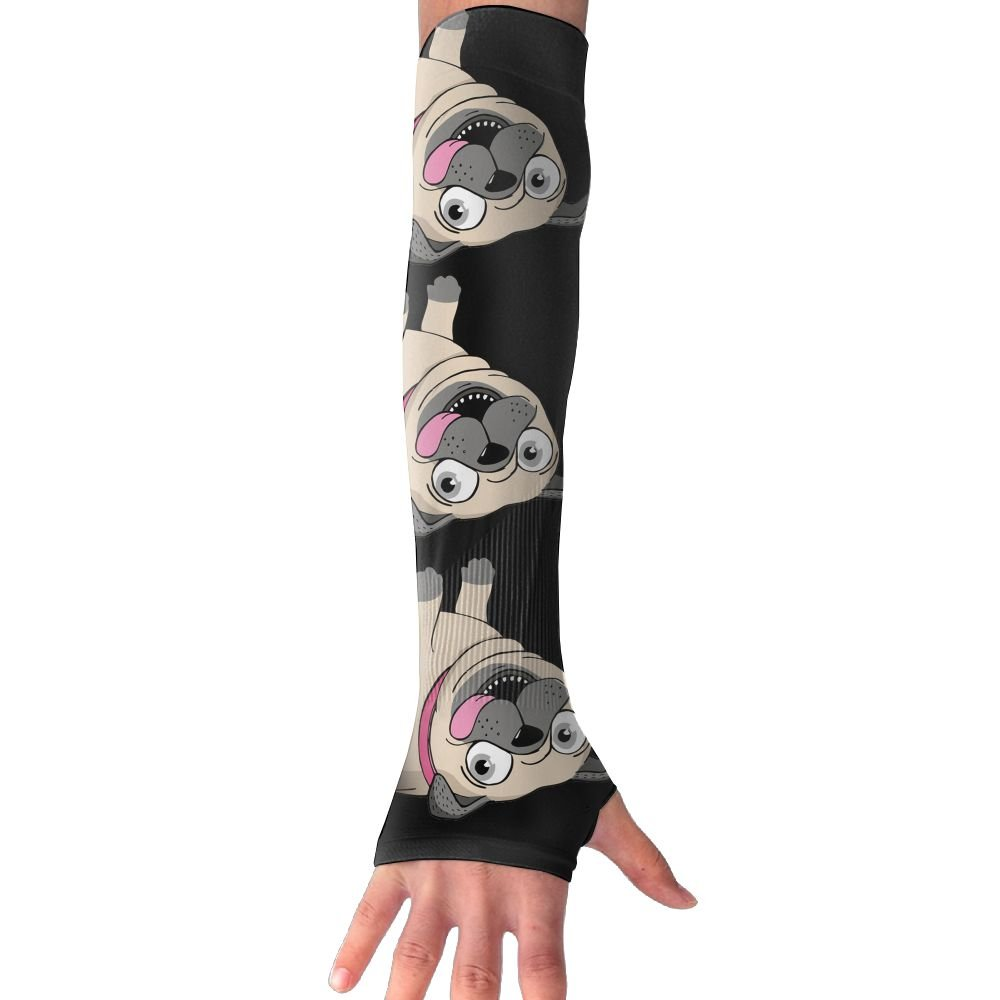 Best Pug Mom Eve Cute Unisex Protection Hand Cover Arm Sleeves Cool Cover Sun For Outdoor Activities 1 Pair