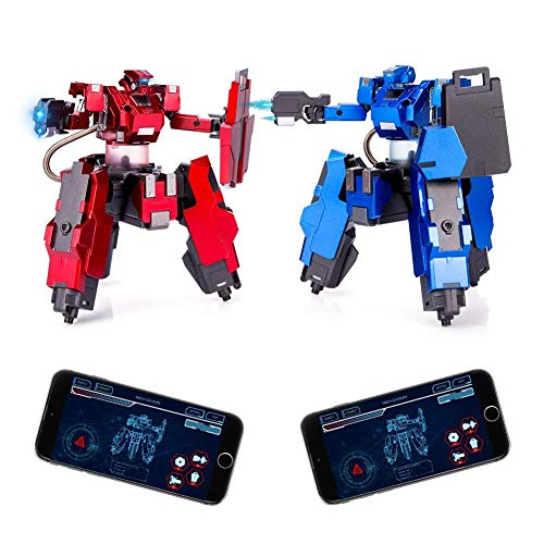 Feeleye Remote Control Battle Robot,APP(Android and iOS) Remote Control Desktop Boxing Robots for Kids