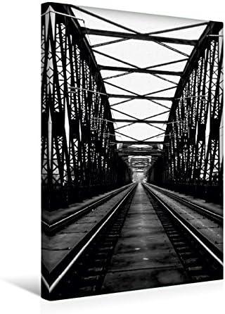 Premium Textil-Leinwand 30 cm x 45 cm de altura, Prag, ferrocarril puente š Wandbild, imagen en Keilrahmen, Fertigbild en verdadera lienzo, Leinwanddruck (CALVENDO Orte);CALVENDO lugares