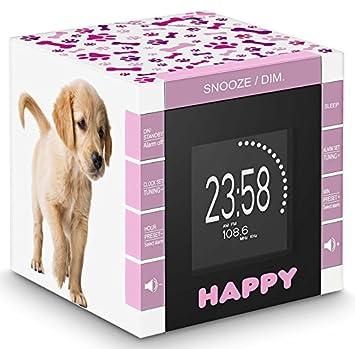BigBen RR70PDOGS2 - Reloj despertador con proyector, diseño perritos: Amazon.es: Electrónica