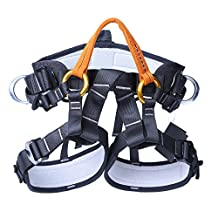 MagiDeal Safety Half Body Harness Sitting Bust Belt for Outdoor Rock Climbing Tree Arborist Aerial Construction Fall Arrest Protection