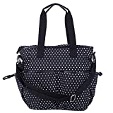 HDE Womens Polka Dot Canvas Overnight Crossbody Tote Travel Messenger Bag