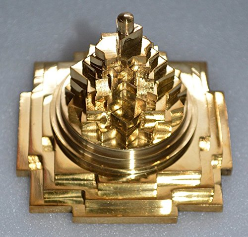 Meru yantra Shri Sri meru yantra 3d Shri Laxmi yantra Pure brass Sri yantra Energized – Spiritual powers correcting imbalances overcome fears health w…
