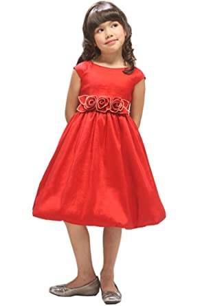 kid collection girls red flower girl christmas dress size 2 - Girl Christmas Dresses