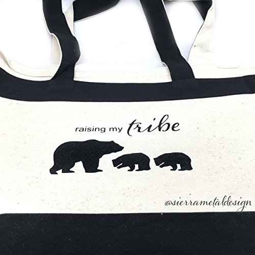 Raising My Tribe 2 Cub Tote Lightweight Tote Accessory For Mama Mothers Day Best Mom Ever From Kids Cute Bag