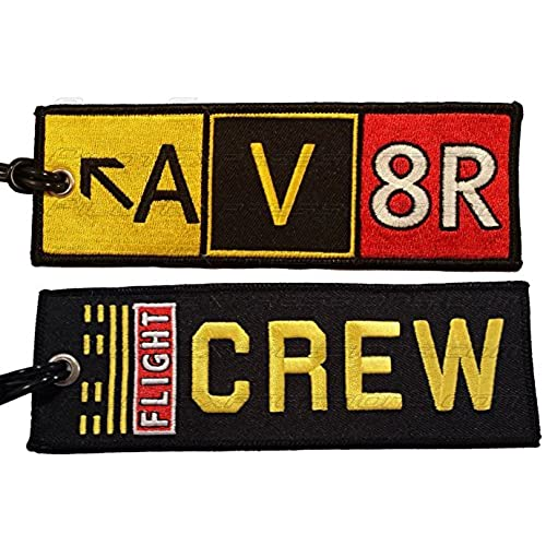 AV8R Taxiway Sign Embroidered Luggage Tag