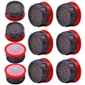 Elcoho 10 Pack Faucet Aerator Stainless Steel Mesh Faucet Flow Restrictor Replacement Parts for Bathroom or Kitchen