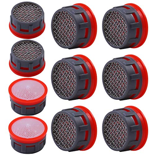 Elcoho 10 Pack Faucet Aerator Stainless Steel Mesh Faucet Flow Restrictor Replacement Parts for Bathroom or Kitchen (10) ()
