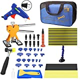 Togyoo PDR Tool 50pcs Paintless Dent Repair Removal Remover Tools Kit Golden Dent Lifter PDR Dent Removal Kit Body Dent Removal Tools Line Board for Hail Damage Dent Remover with Portable Bag