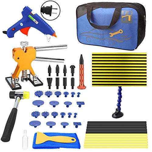 Togyoo PDR Tool 50pcs Paintless Dent Repair Removal Remover Tools Kit Golden Dent Lifter PDR Dent Removal Kit Body Dent Removal Tools Line Board for Hail Damage Dent Remover with Portable Bag by Togyoo (Image #9)