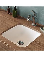 Kraus KSU-7MW Natura Bathroom Sink, Matte White