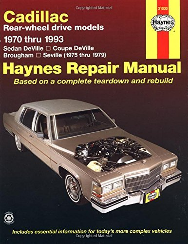 Cadillac RWD (1970-93) Automotive Repair Manual (Haynes for sale  Delivered anywhere in Canada