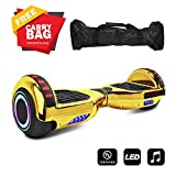cho 6.5' inch Hoverboard Electric Smart Self Balancing Scooter with Built-in Wireless Speaker LED Wheels and Side Lights Safety Certified