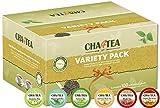 Cha4TEA K-Cup Tea Variety Sampler Pack, 100-Count Keurig K Cups, Multiple Flavors (Green Tea, Black Tea, Jasmine, Earl Grey, English Breakfast, Peppermint)