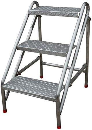 YAHAO Escalera Móvil Portátil 2/3/4 para Escaleras De Tijera, Escaleras De Mano De Acero Inoxidable Escaleras De Tijera De Acero Inoxidable para Adultos, Herramienta De Huerto Doméstico,3layers: Amazon.es: Hogar