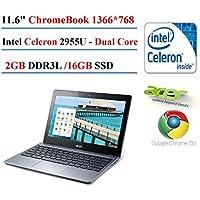 2017 Acer C720-2103 Chromebook (11.6-Inch, Intel Celeron, 2GB DDR3L, 16GB SSD) (Certified Refurbished)