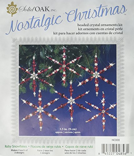 Wire Snowflake Forms (Solid Oak Kit Beaded Ornament Snowflakes Ruby)
