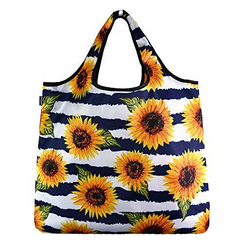 YaYbag-Hundreds of Prints-Multi-Functional Reusable Bags-Reusable Grocery Bags-Reusable Produce Bags Washable-Reusable Shopping Bags Foldable-Reusable Travel Bags-Sunflower