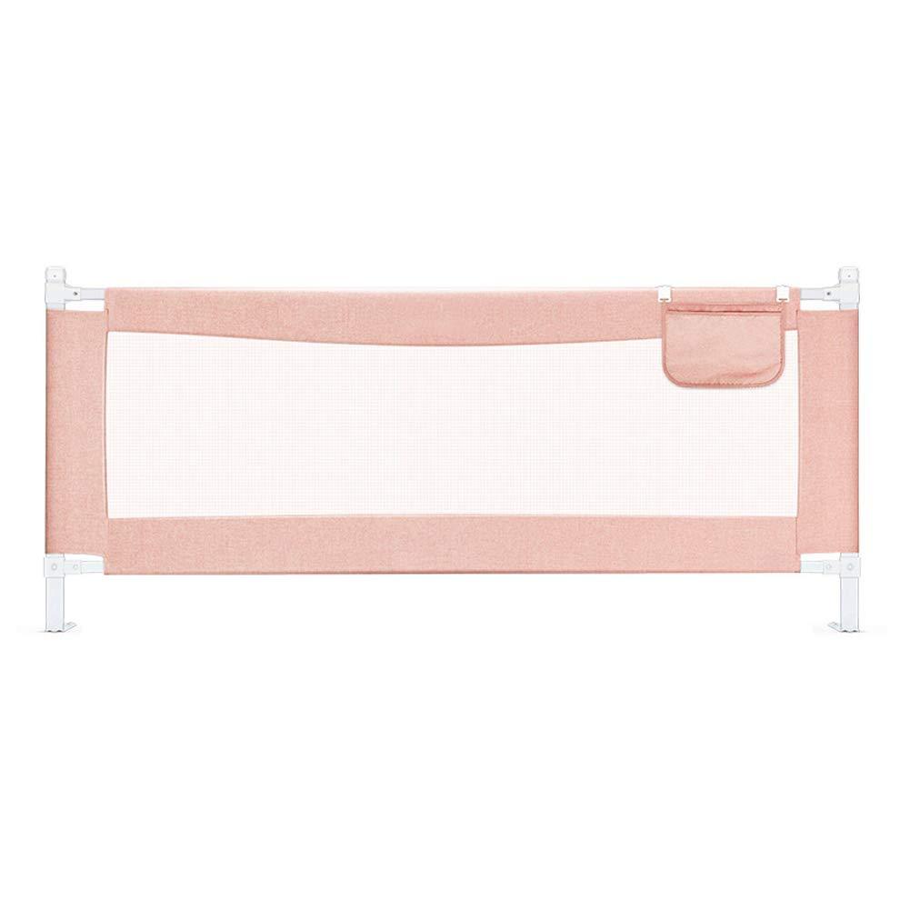 ベッドフェンス, 63cm高安全ベッドレール、幼児用、垂直エレベーターベッドレールガード(キングサイズベッド/クイーンサイズベッド) (色 : Pink, サイズ さいず : 180cm) 180cm Pink B07KCJBX1S