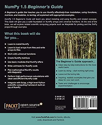 NumPy 1.5 Beginners Guide: Amazon.es: Idris, Ivan: Libros en idiomas extranjeros