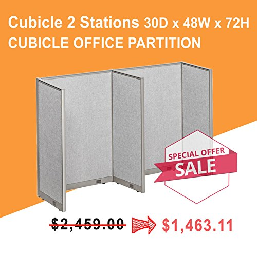 [Limited Time Special] GOF Call Center Cubicle, Worktations 30D x 48W x 72H / Office Partition (30D x 48W x 72H)) ()