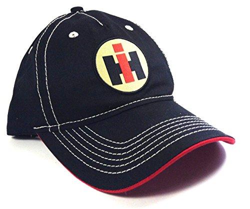 Black International Trucks Harvester Logo Slouch Adjustable - International Hat