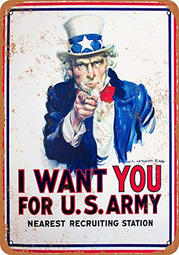 Vintage Uncle Sam - Tamengi I Want You for U.S. Army Uncle Sam Vintage Look 12