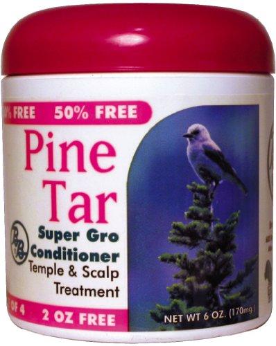 Waterbeds Pine (BB Pine Tar Super Gro Hair & Scalp Bonus 6 oz. (Pack of 6))