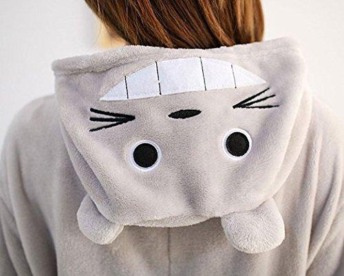 WOWcucos Unisex Adult Totoro Onesies Animal Cosplay Costume Halloween Xmas Pajamas