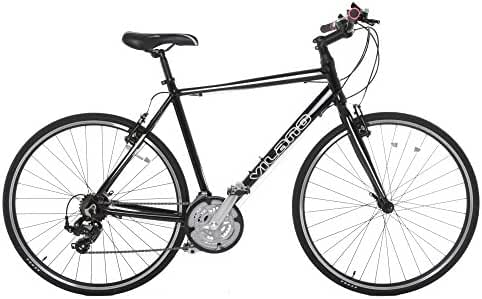 Vilano Tuono Performance Hybrid Flat Bar Commuter Road Bike (700c, 21 Speed Shimano) - 54 cm