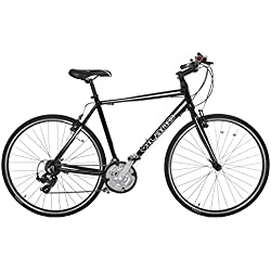 Vilano Tuono Performance Hybrid Flat Bar Commuter Road Bike (700c, 21 Speed Shimano) - 50 cm