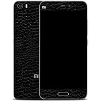 GADGETS WRAP Black Textured Leather Style Skin For Xiaomi Mi5 Mi 5 (P-47) A10B08