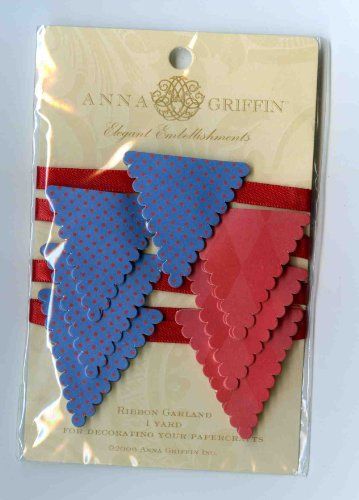 Anna Griffin Bailey Birthday Collection Elegant Embelillishments - 1 Yard Ribbon Garland (Scrapbook Griffin Anna)
