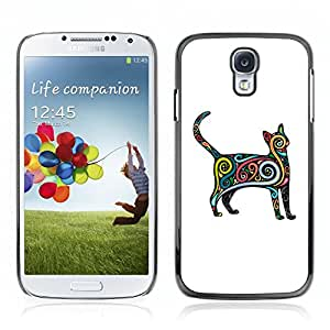 Carcasa Funda Case // V0000518 Vector Art Cat// Samsung Galaxy S4 i9500