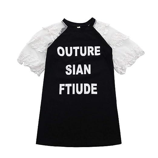 LEEFTM Traje De Niñas Camiseta De Verano para Niños Camisa De ...