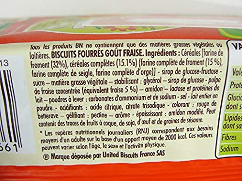 Lu Fraise BN French Strawberry Sandwich Cookies 10.5 oz (8 PACK)