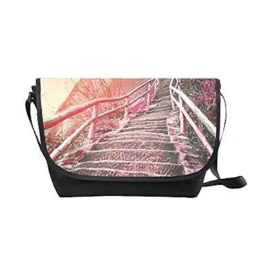 best Crossbody Bag Stair mountain Black Nylon Daypacks Casual Messenger  Shoulder Bag 75ad8023cdd25