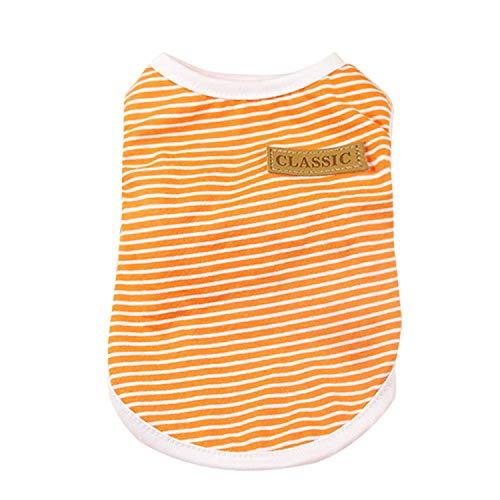 Pet Clothes Pet Dog Puppy Classic Vest T-Shirt Dog Clothes Striped Vest Apparel Summer Coats Costume Roup -