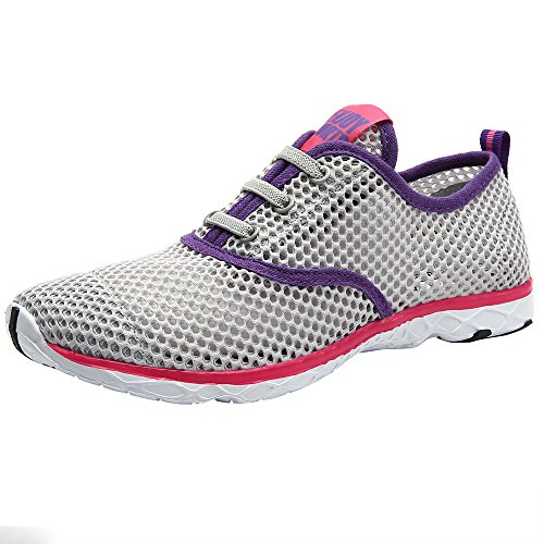 Aleader Women's Quick Drying Aqua Water Shoes Gray 10 D(M) US